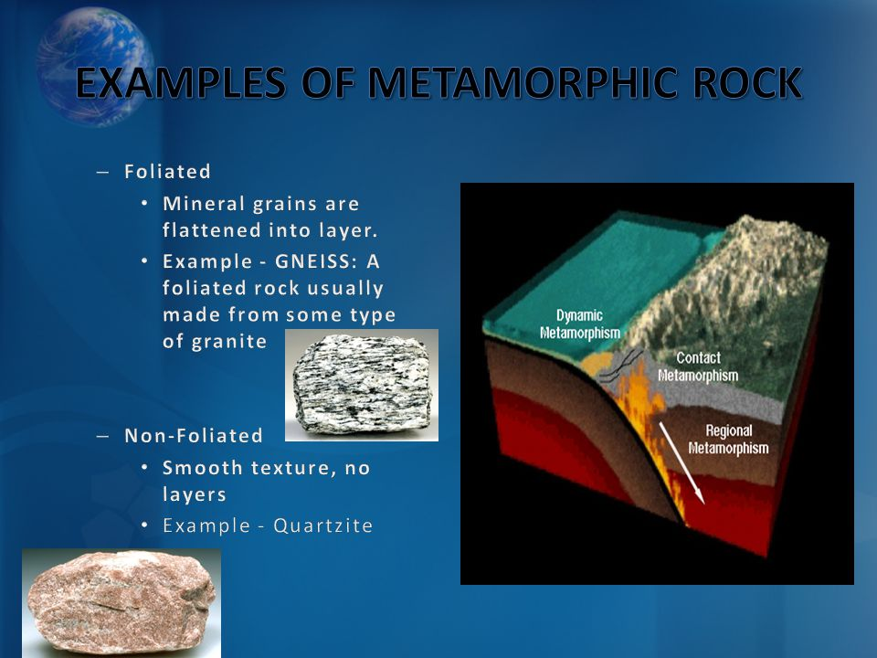 EXAMPLES OF METAMORPHIC ROCK