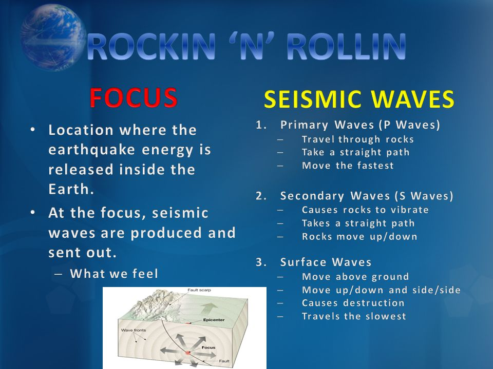 ROCKIN 'N' ROLLIN FOCUS SEISMIC WAVES