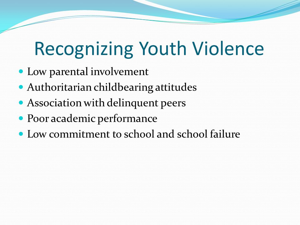 Recognizing Youth Violence