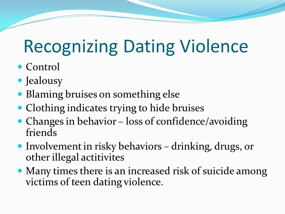 Recognizing Dating Violence
