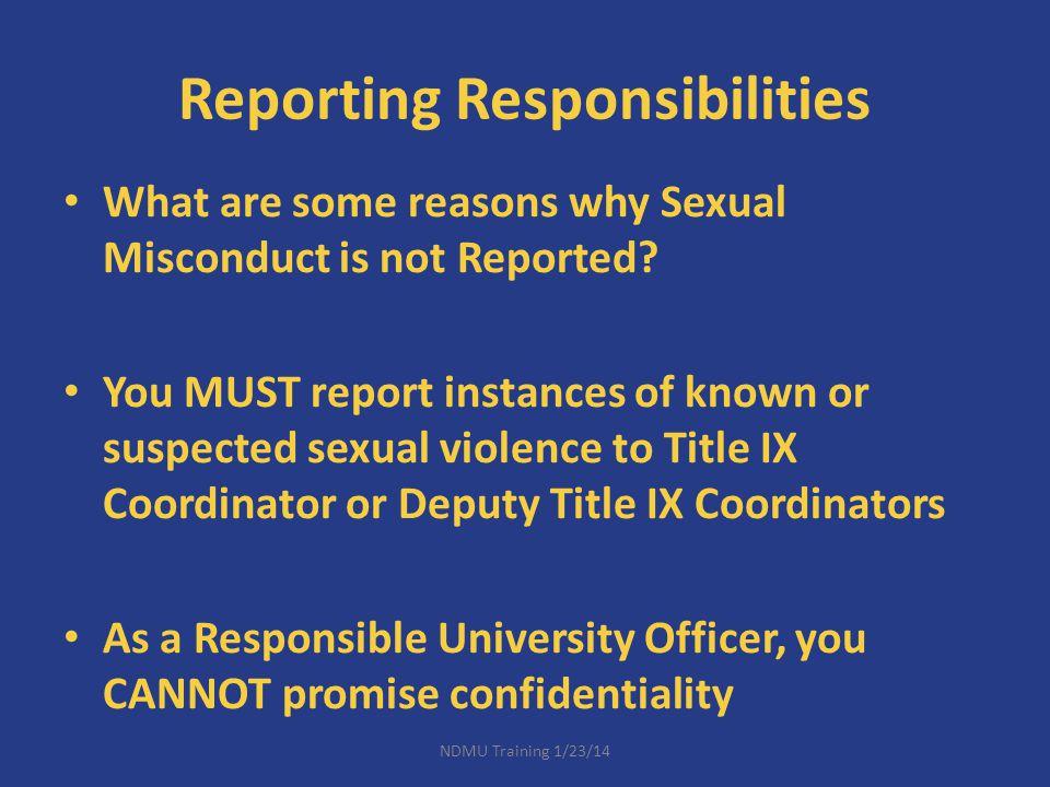 Reporting Responsibilities