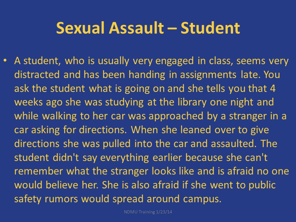 Sexual Assault – Student