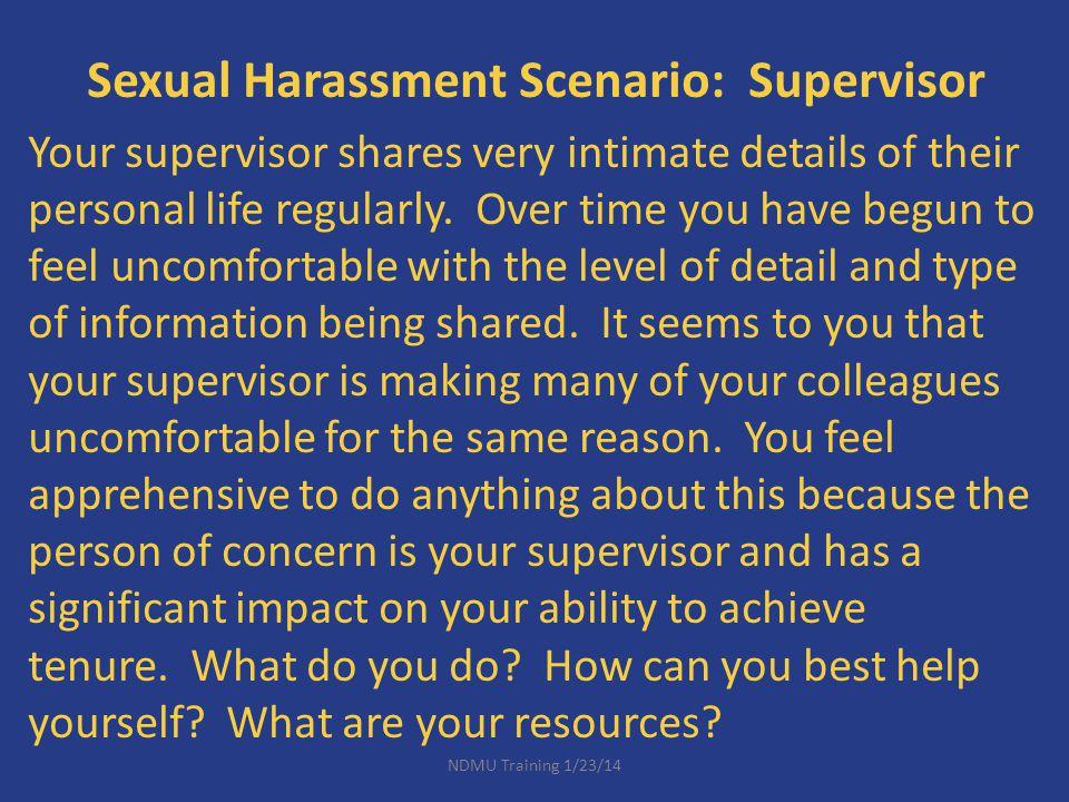 Sexual Harassment Scenario: Supervisor