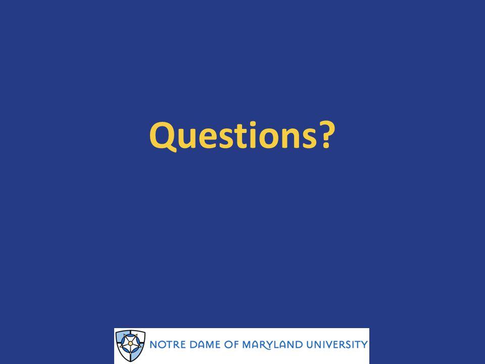 Questions Tara NDMU Training 1/23/14