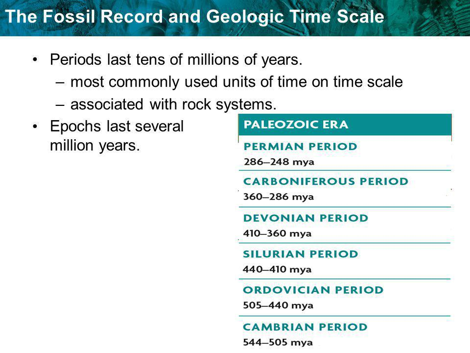 Periods last tens of millions of years.