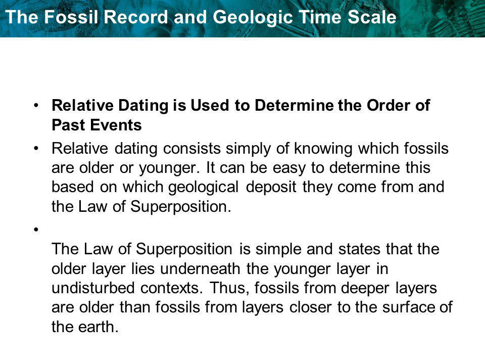 what does relative dating determine Earth and environment through time laboratory- ees 1005 laboratory three using relative dating and unconformities to determine sequences of events introduction in order to interpret earth history from.