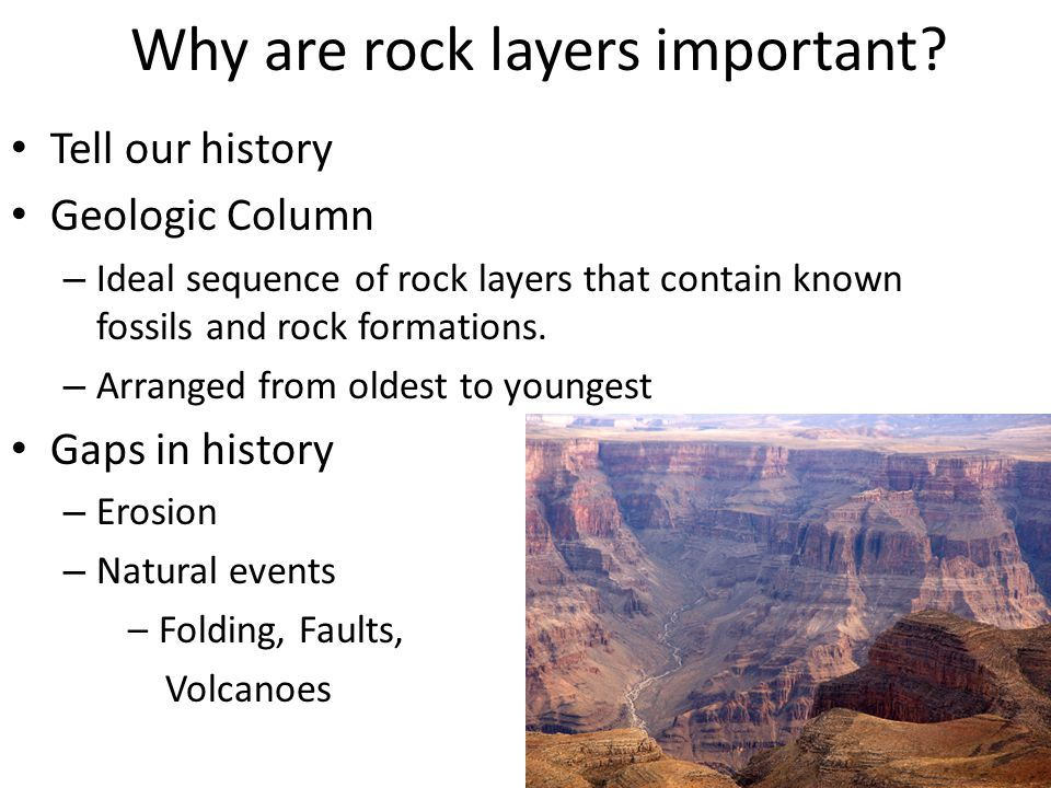 Why are rock layers important