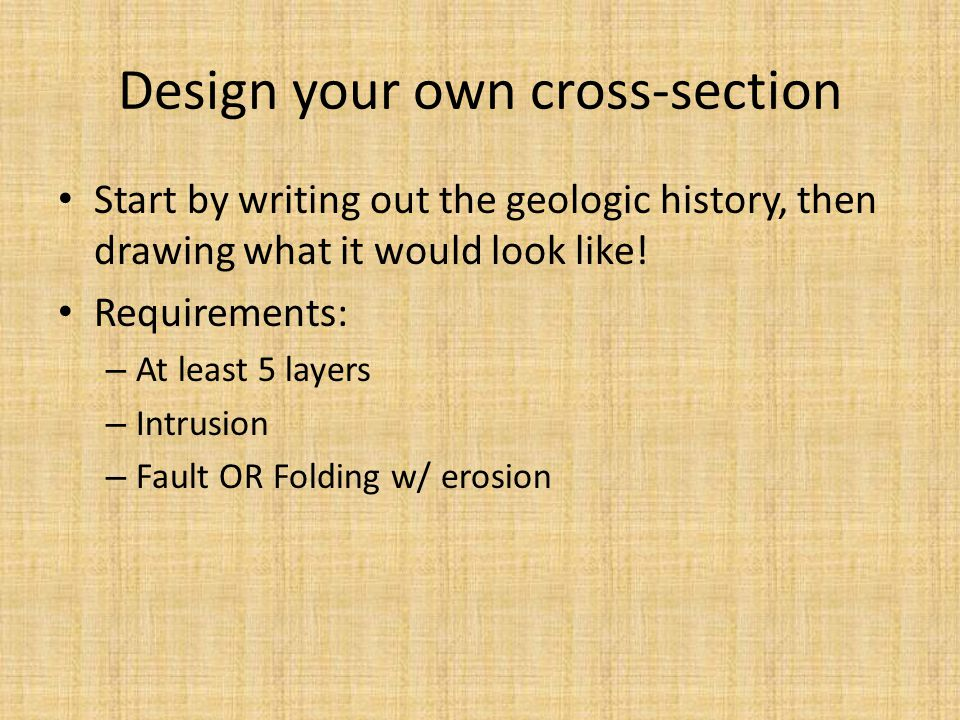 Design your own cross-section