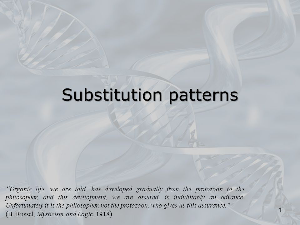 Substitution patterns