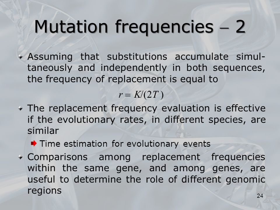 Mutation frequencies  2