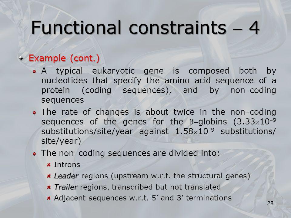 Functional constraints  4