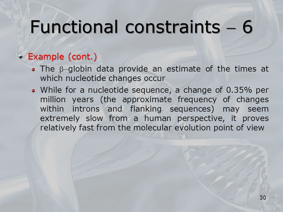 Functional constraints  6