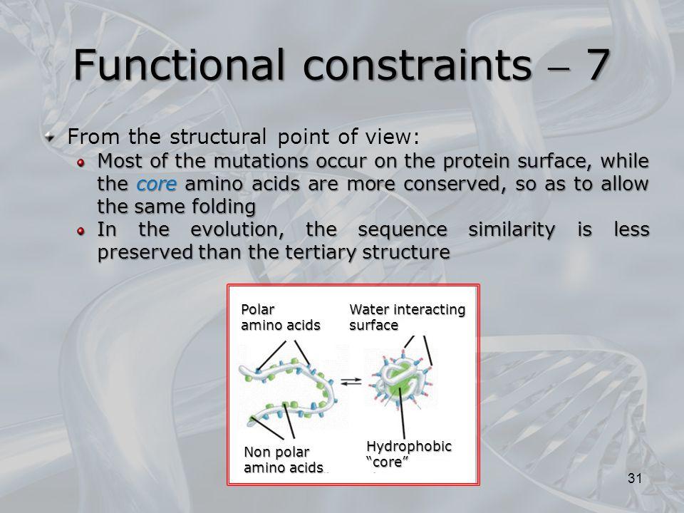 Functional constraints  7