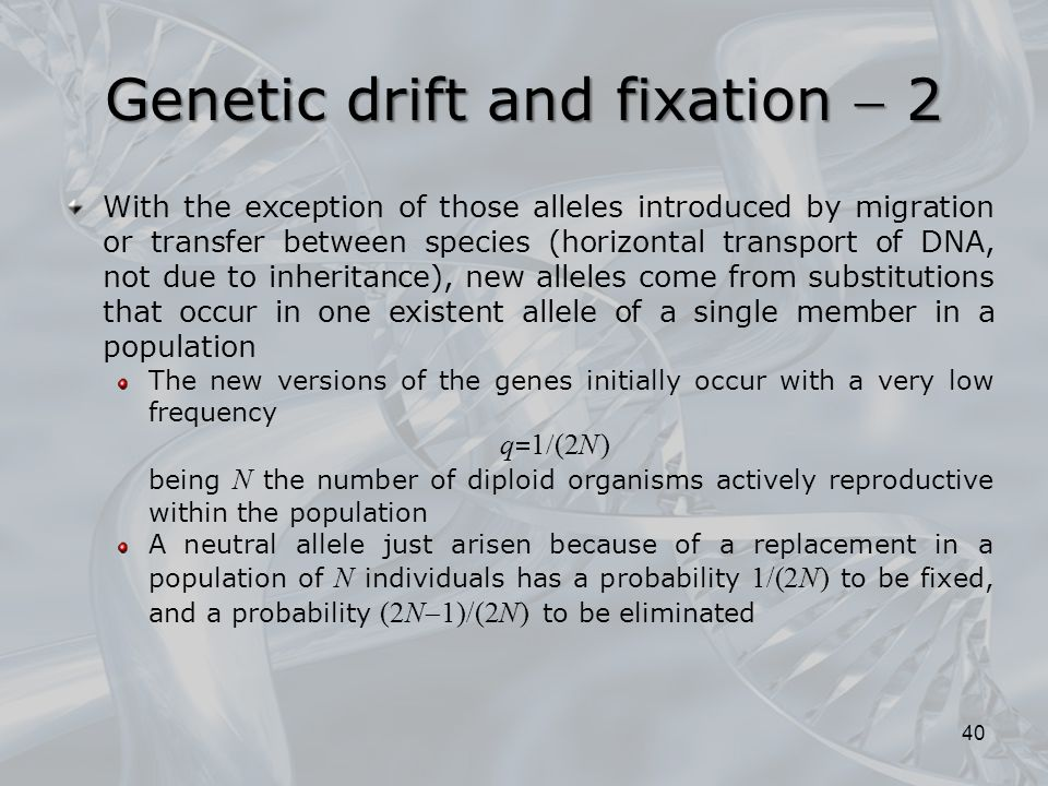 Genetic drift and fixation  2
