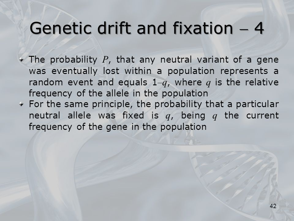 Genetic drift and fixation  4