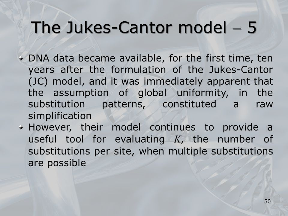 The Jukes-Cantor model  5