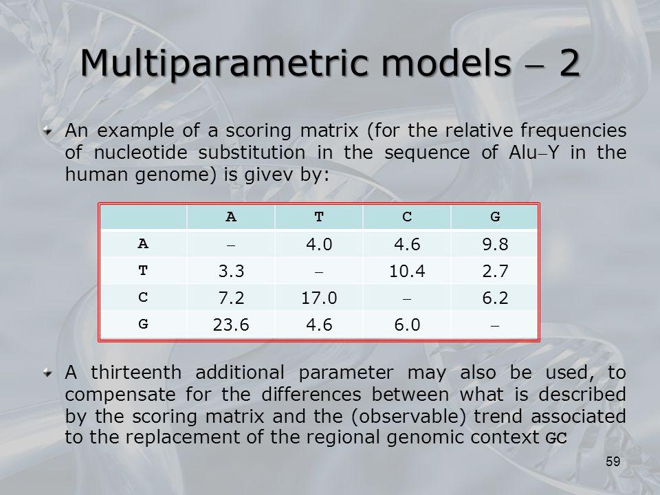 Multiparametric models  2