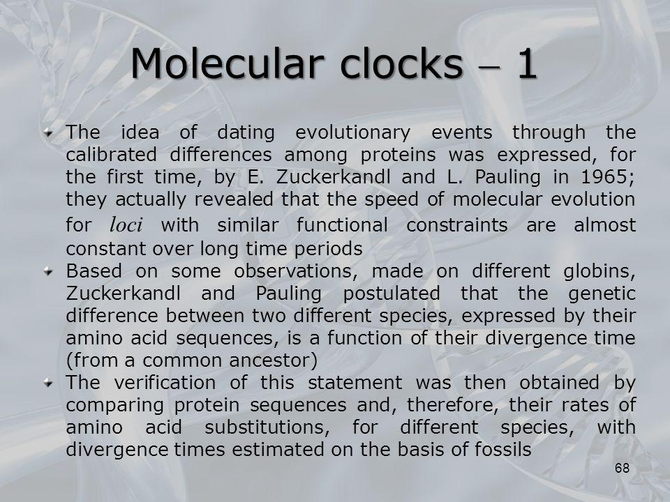 Molecular clocks  1