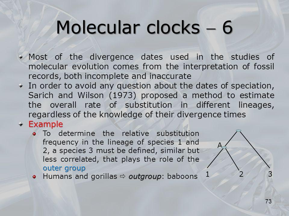 Molecular clocks  6