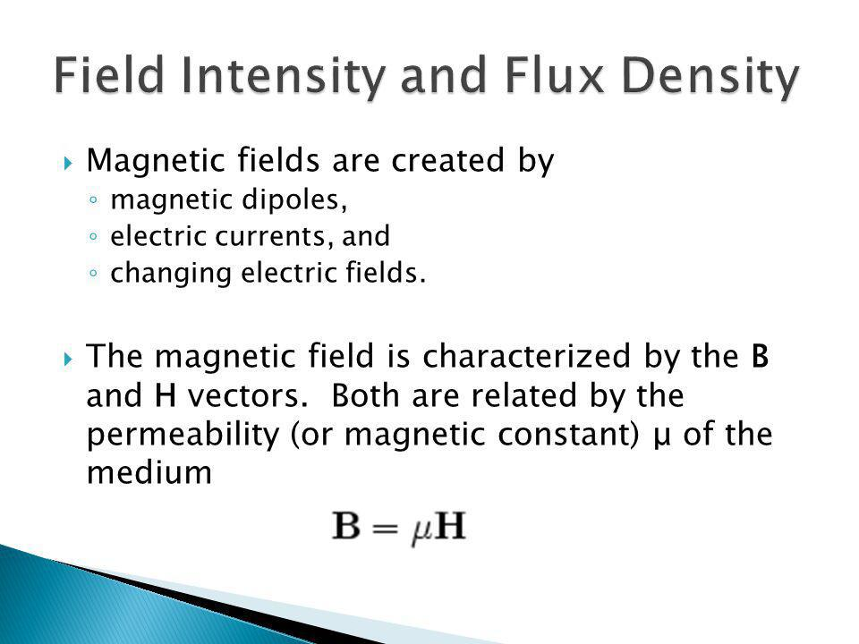 Field Intensity and Flux Density