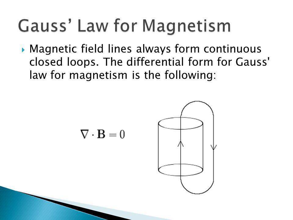 Gauss' Law for Magnetism