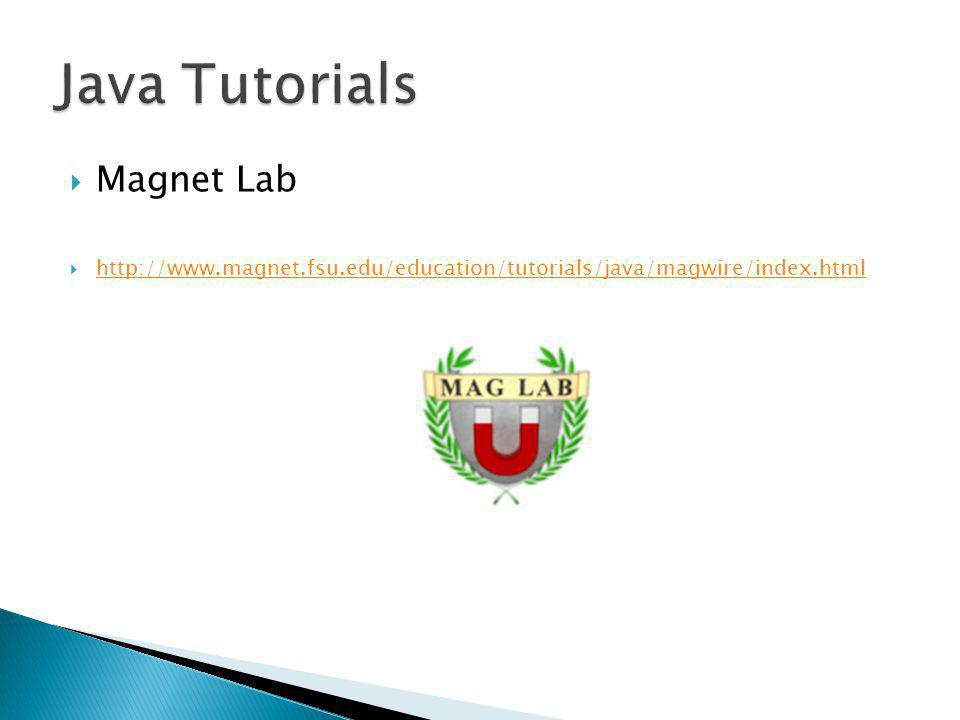 Java Tutorials Magnet Lab