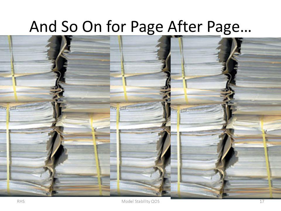 And So On for Page After Page…