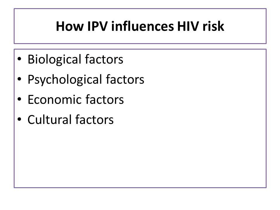 How IPV influences HIV risk
