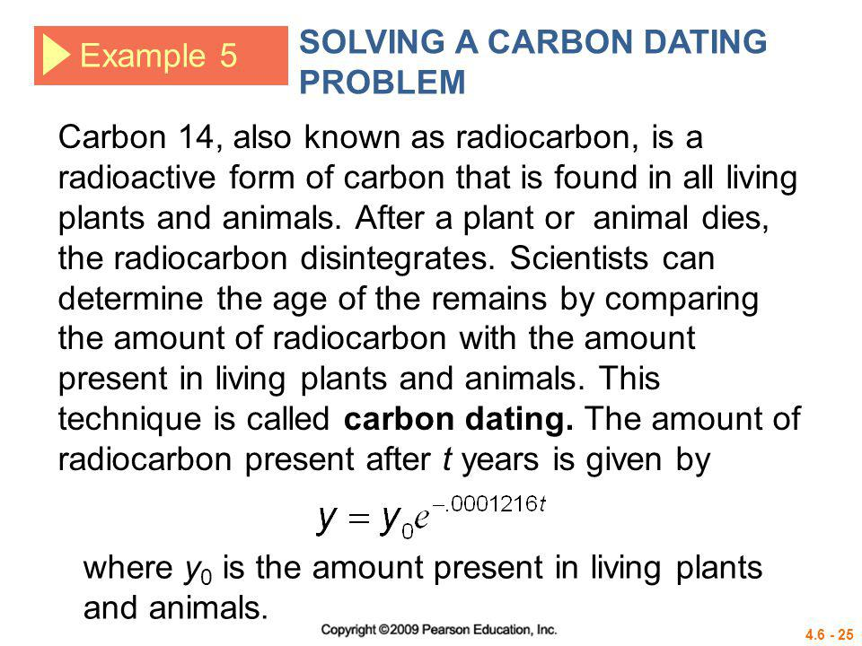 SOLVING A CARBON DATING PROBLEM