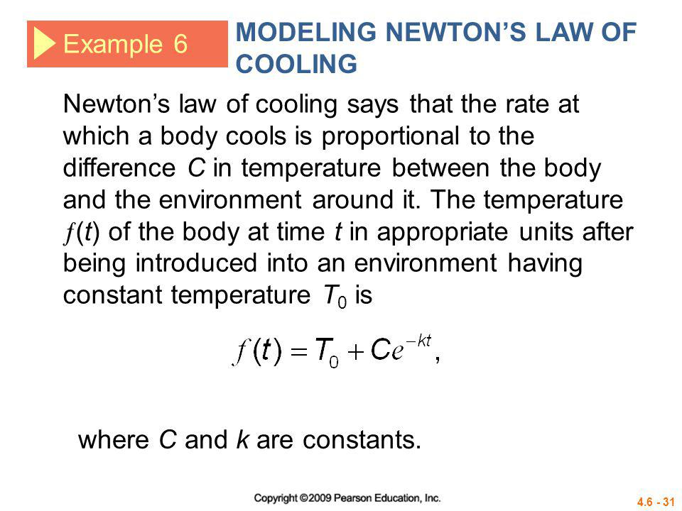 MODELING NEWTON'S LAW OF COOLING
