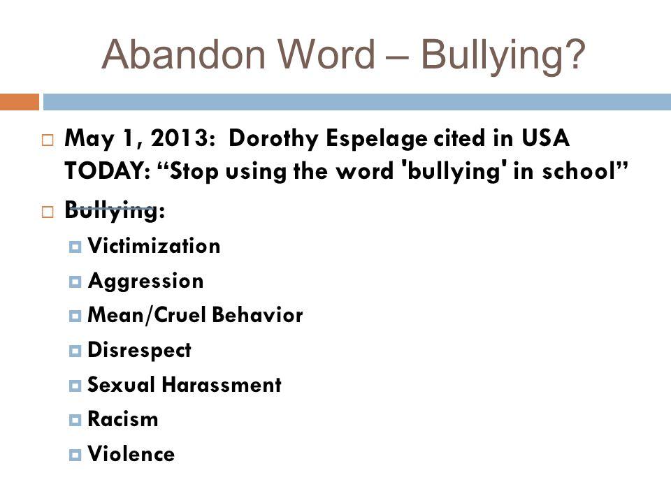 Abandon Word – Bullying