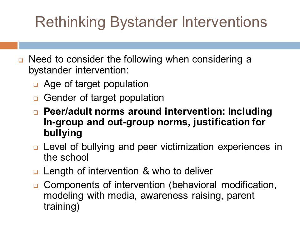 Rethinking Bystander Interventions