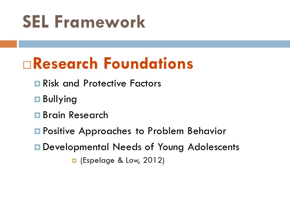 SEL Framework Research Foundations Risk and Protective Factors