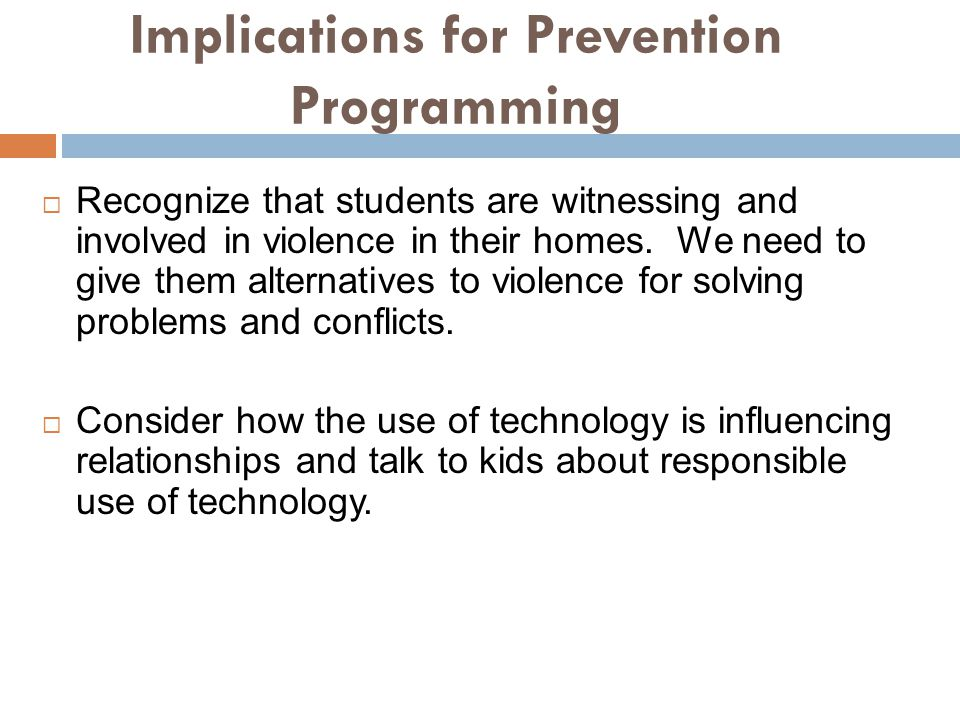Implications for Prevention Programming