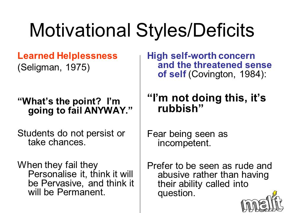 Motivational Styles/Deficits