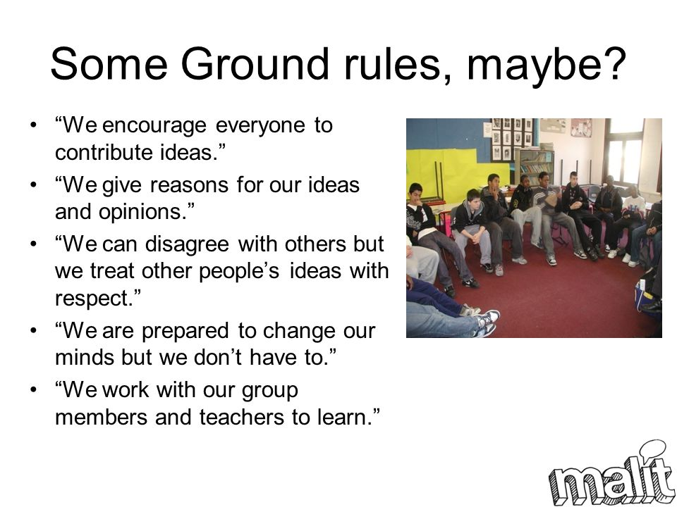 Some Ground rules, maybe