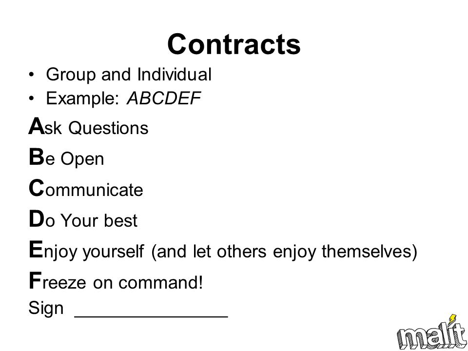 Contracts Ask Questions Be Open Communicate Do Your best