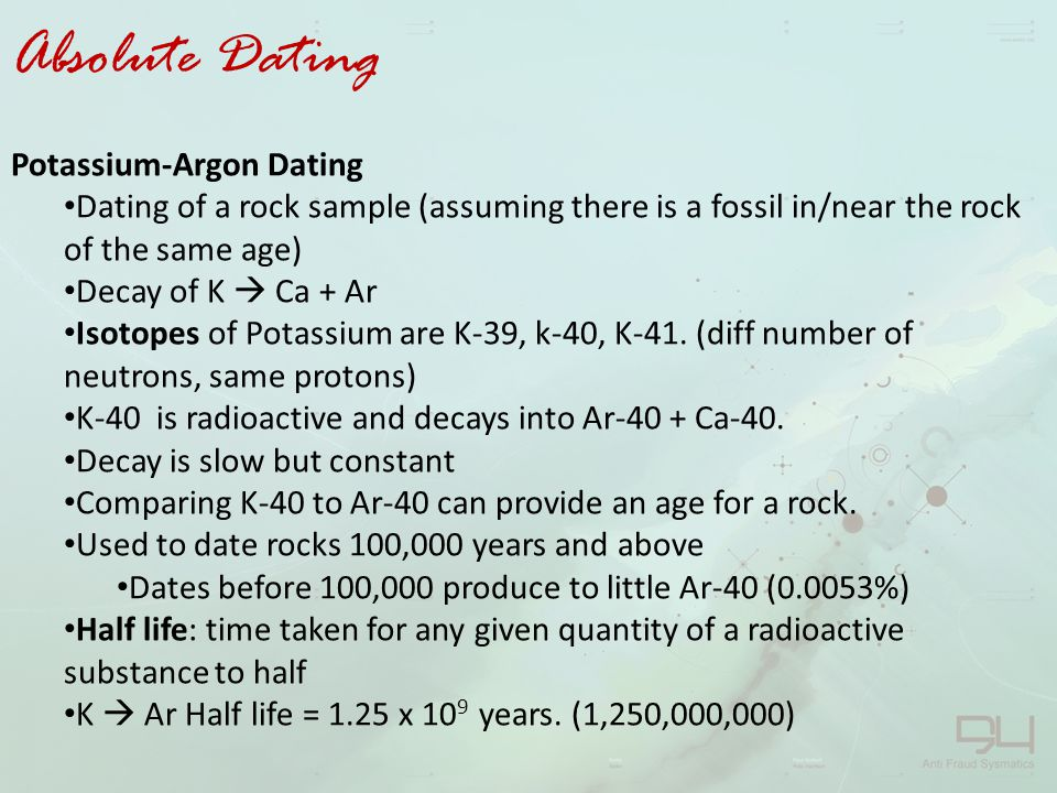 Argonargon dating