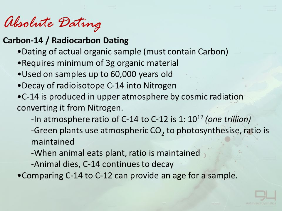 Relative dating is a scientific