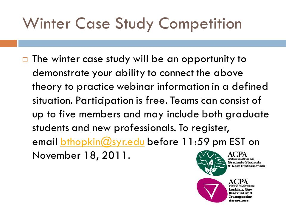 Winter Case Study Competition