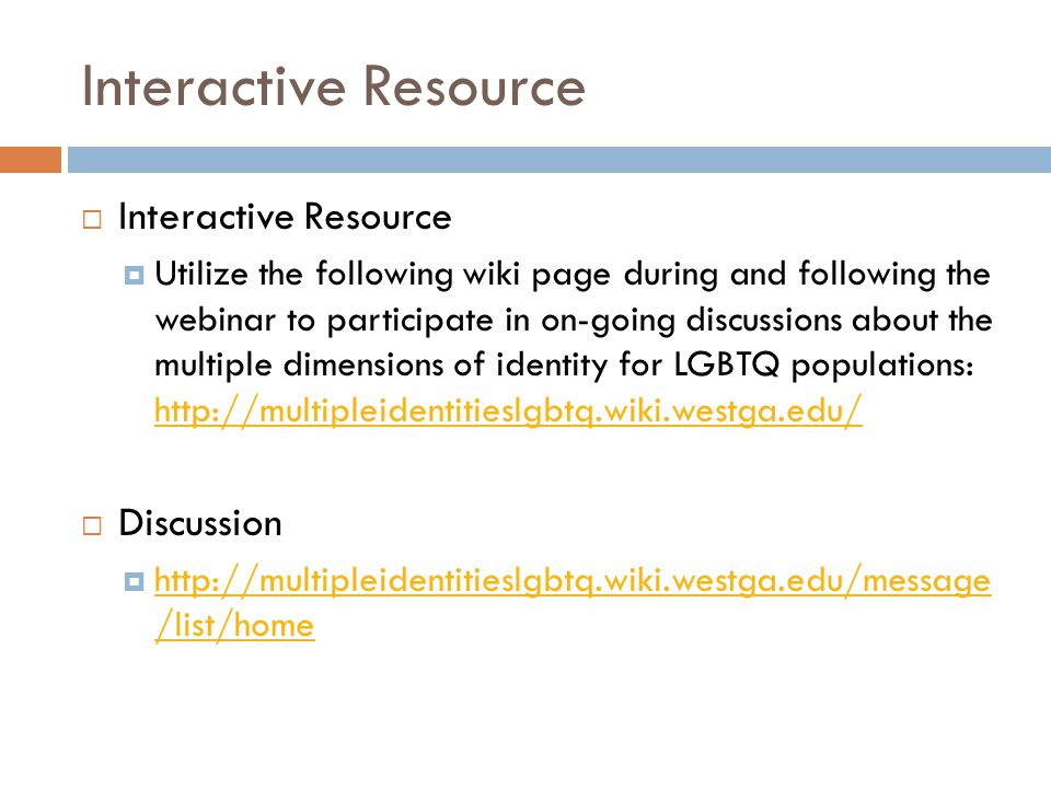 Interactive Resource Interactive Resource Discussion