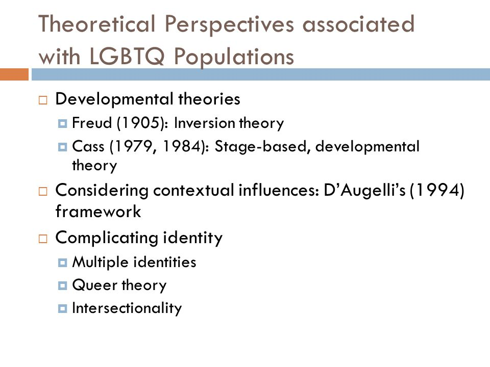 Theoretical Perspectives associated with LGBTQ Populations