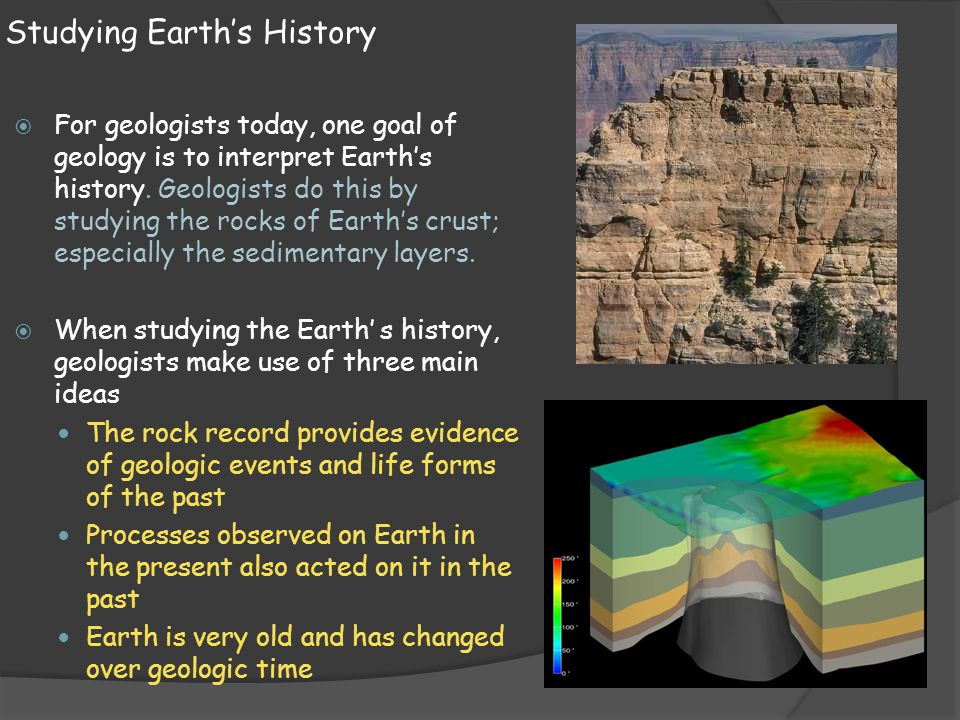 Studying Earth's History