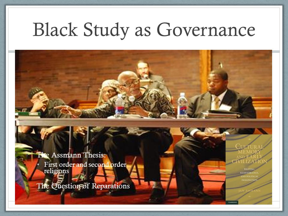 Black Study as Governance