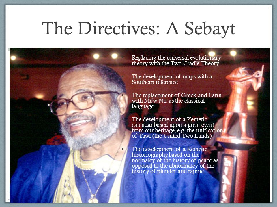 The Directives: A Sebayt