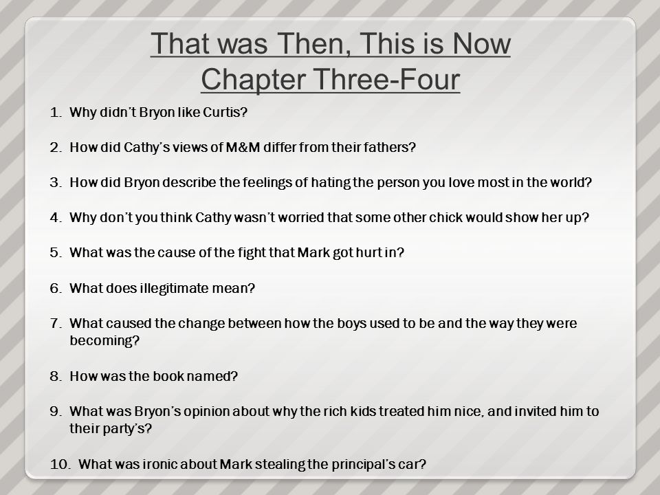 That was Then, This is Now Chapter Three-Four