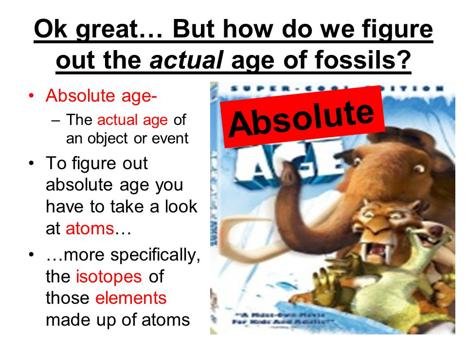 Ok great… But how do we figure out the actual age of fossils