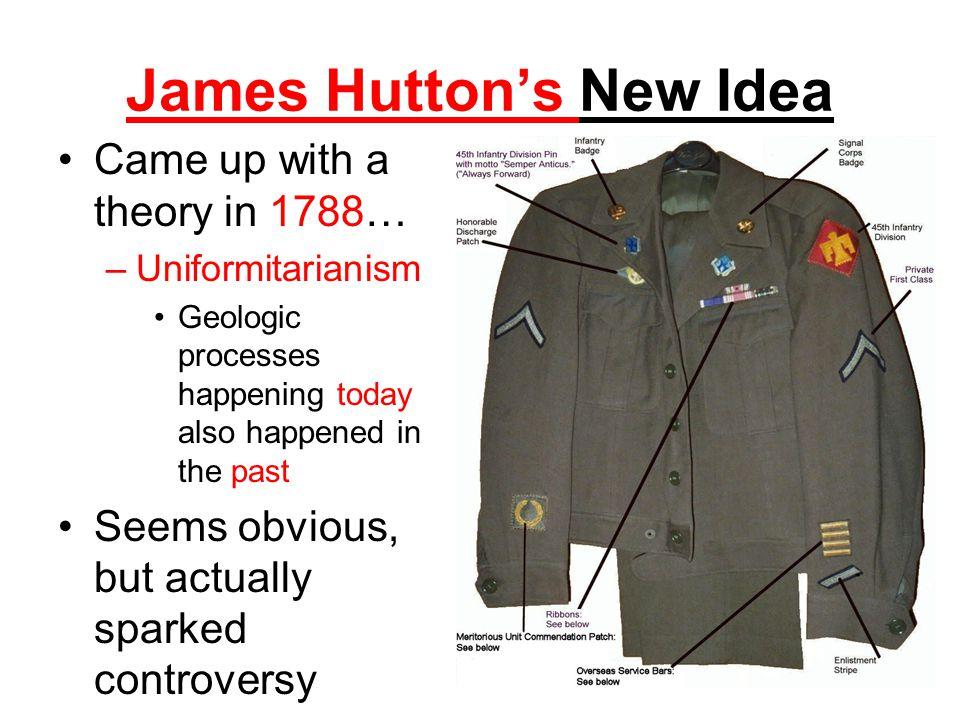 James Hutton's New Idea