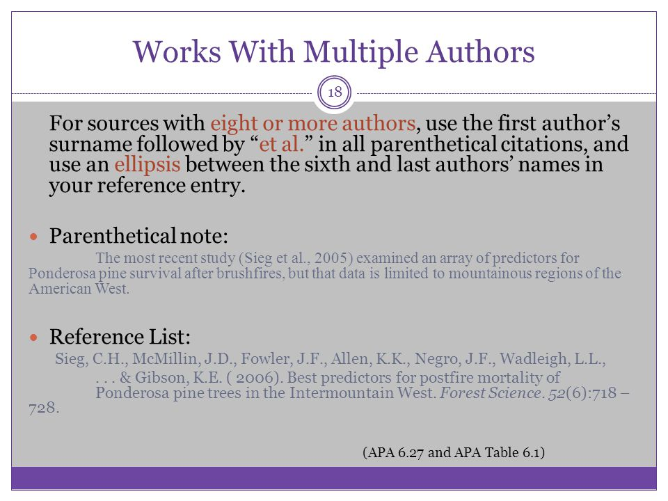 Works With Multiple Authors