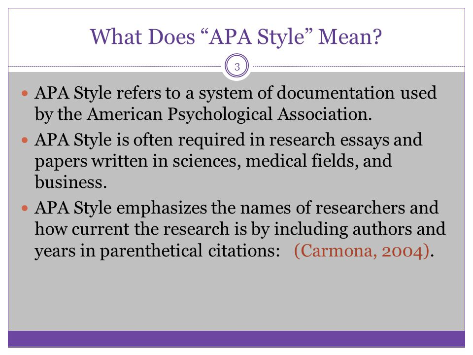 What Does APA Style Mean